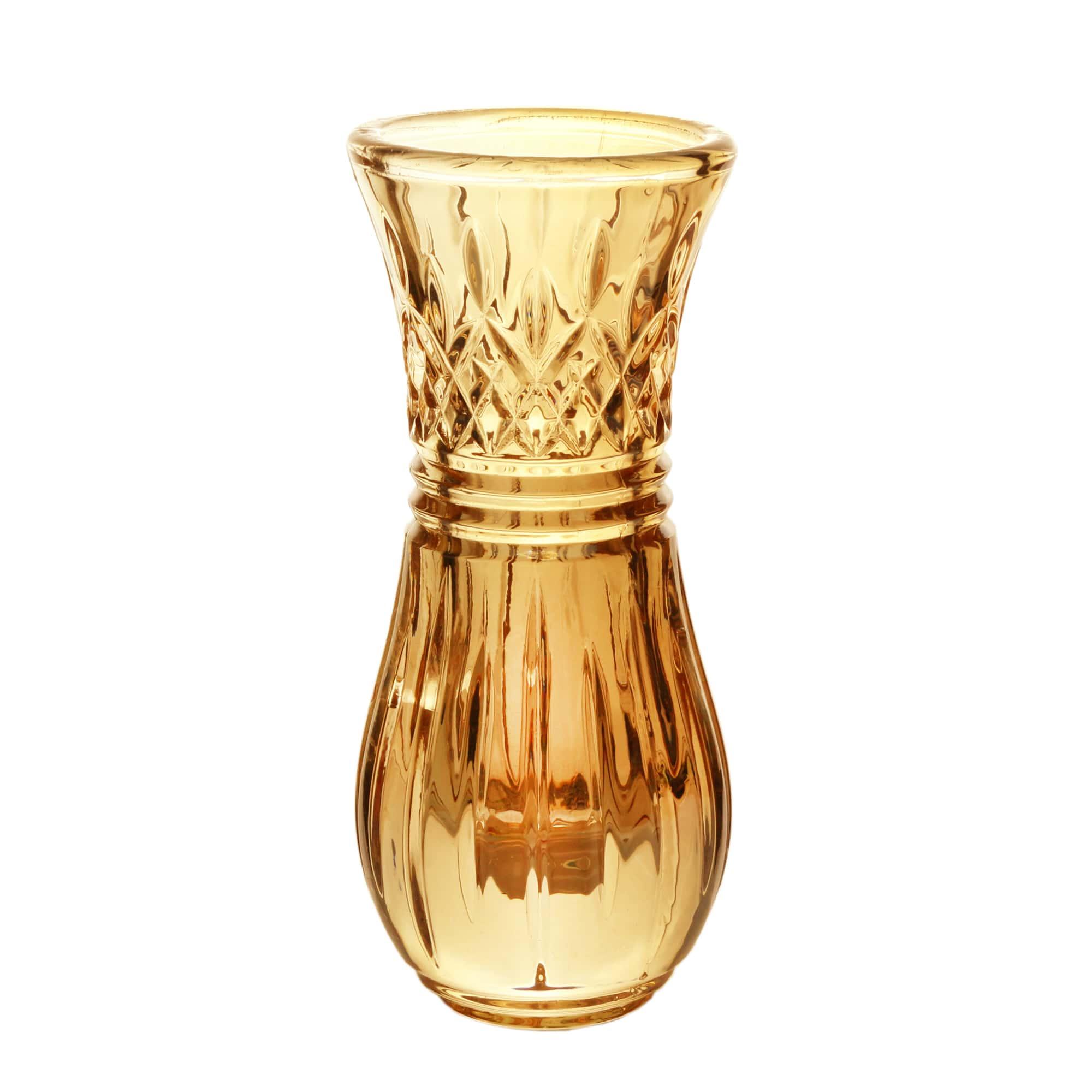 Vaso Cristal de Chumbo Âmbar