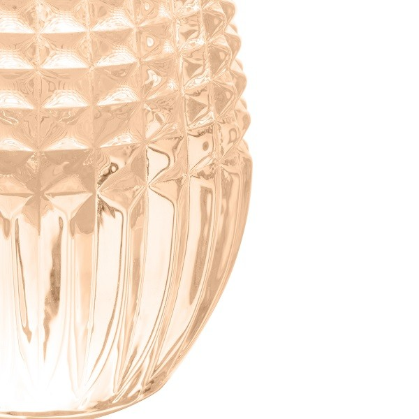 Vaso Cristal de Chumbo Queen Âmbar 6 x 15 cm 27971