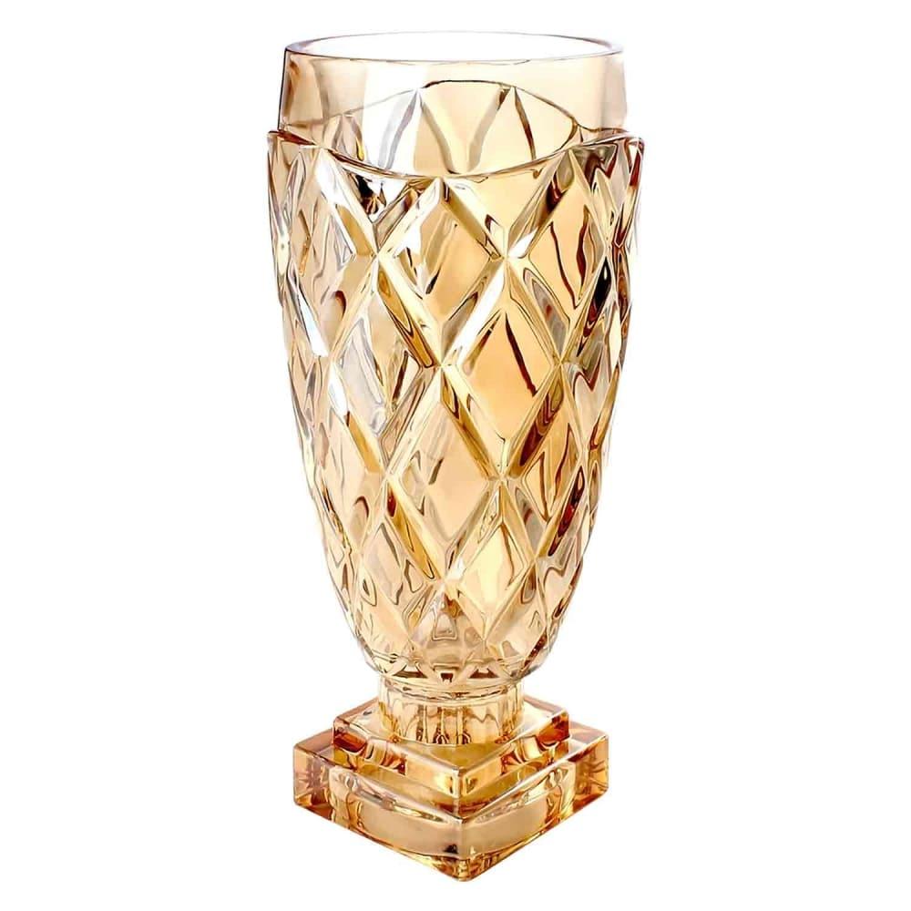 Vaso de Vidro Âmbar