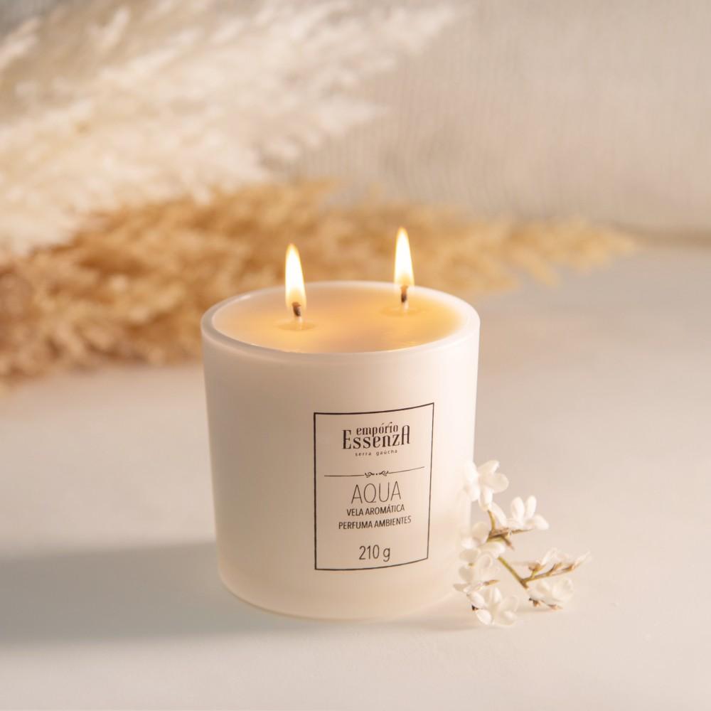 Vela Aromática Perfuma Ambiente - Aqua Empório Essenza