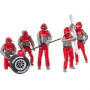Conjunto com figuras de Mecânicos Carrera Crew 1/32 Carrera