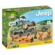 Jeep Willys MB com 1/4 Ton Cargo Trailer Blocos de Montar Cobi