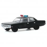 Miniatura AMC Matador 1972 Polícia Black Bandit 1/64 Greenlight