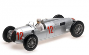 Miniatura Auto Union Type C #12 H. Stuck GP Budapest 1936 1/18 Minichamps