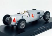 Miniatura Auto Union Type C A. Varzi 2nd Place GP Monaco 1936 1/18 Minichamps