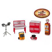 Miniatura Busted Knuckle Garage Shop Tool Accessories 1/64 Greenlight