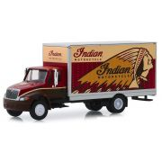 Miniatura Caminhão Baú Internacional 2013 Indian Motorcycle HD Trucks 1/64 Greenlight