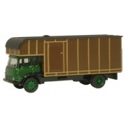 Miniatura Caminhão Bedford TK HorseboxGreen/Brown 1/76 Oxford