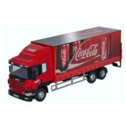 Miniatura Caminhão Scania 94D 6 Wheel Curtainside Coca Cola 1/76 Oxford