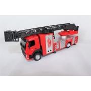 Miniatura Caminhão Volvo FM Bombeiro Luz e Som 1/50 California Action