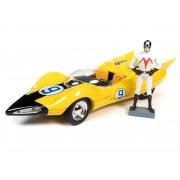 Miniatura Carro Shooting Star #9 Corredor X com Boneco 1/18 Auto World