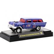Miniatura Chevrolet 150 Handyman Station Wagon Gasser 1957 Cherry Coca 1/64 M2