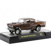 Miniatura Chevrolet Bel Air 1955 Gasser Marrom 1/64 M2