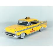 Miniatura Chevrolet Bel Air 1957 Taxi Deadpool Sem Caixa 1/24 Jada Toys