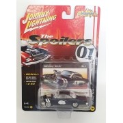 Miniatura Chevrolet Bel Air 1962 Preto The Spoilers 01 A 1/64 Johnny Lightning