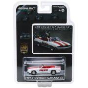 Miniatura Chevrolet Camaro 1969 Conversivel Pace Car Mario Andretti 50th Aniversario 1/64 Greenlight
