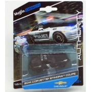 Miniatura Chevrolet Corvette Stingray 2014 Polícia 1/64 Maisto