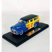 Miniatura Chevrolet Fleetmaster Wagon 1948 Blue 1/43 Goldvarg Collection