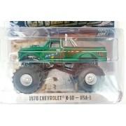 Miniatura Chevrolet K 10 1970 Monster Truck Greenmachine 1/64 Greenlight