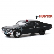 Miniatura Chevrolet Nova 1969 Polícia Hunter 1/64 Greenlight