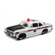 Miniatura Chevrolet Nova 1970 Polícia 1/64 Maisto