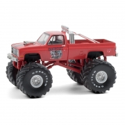 Miniatura Chevrolet Silverado 1984 Big Foot Monster Truck 1/64 Greenlight