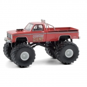 Miniatura Chevrolet Silverado 1987 Big Foot Monster Truck 1/64 Greenlight