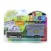 Miniatura Chevrolet Silverado 2002 Tiny Houses 1/64 Johnny Lightning