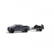 Miniatura Chevrolet Silverado 2020 com Moto Indian Scout 2020 Hitch & Tow 1/64 Greenlight