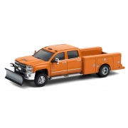 Miniatura Chevrolet Silverado 3500 2018 Snow Plow 1/64 Greenlight