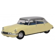 Miniatura Citroen 2DS19 Yellow Silver 1/76 Oxford
