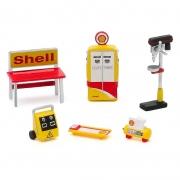 Miniatura Conjunto Acessórios Ferramentas Shell Oil 1/64 Greenlight