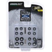 Miniatura Conjunto Rodas e Pneus Ford Trucks 1/64 Greenlight