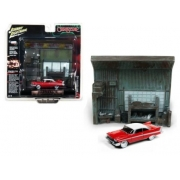 Miniatura Diorama Plymouth Fury 1958 Christine 1/64 Johnny Lightning