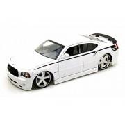Miniatura Dodge Charger SRT8 2006 Lopro Branco 1/18 Jada Toys