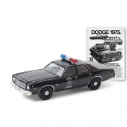 Miniatura Dodge Coronet 1975 Polícia 1/64 Greenlight