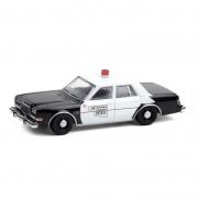 Miniatura Dodge Diplomat 1985 Polícia Hot Pursuit 1/64 Greenlight