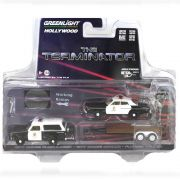 Miniatura Dodge Ramcharger 1977 e Dodge Monaco 1977 The Terminator O Exterminador do Futuro Trailer 1/64 Greenlight Hitch & Tow Serie 5