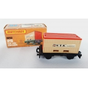 Miniatura Flat Car Container N°25 1/64 Matchbox