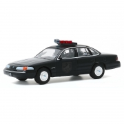 Miniatura Ford Crown Victoria 1992 Polícia Black Bandit 1/64 Greenlight