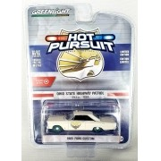 Miniatura Ford Custom 1965 Policia Hot Pursuit Greenmachine 1/64 Greenlight