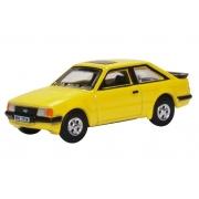 Miniatura Ford Escort XR3i Yellow 1/76 Oxford