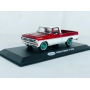 Miniatura Ford F-100 1970 Vermelha Greenmachine 1/43 Greenlight