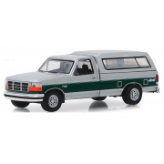 Miniatura Ford F-150 1996 XLT with Camper Shell 1/64 Greenlight