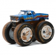 Miniatura Ford F-250 1996 Big Foot Monster Truck 1/64 Greenlight