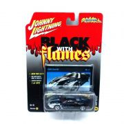 Miniatura Ford GT 2005 Black With Flames B 1/64 Johnny Lightning