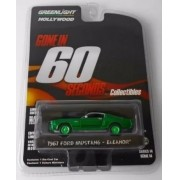 Miniatura Ford Mustang 1967 Eleanor Green machine 1/64 Greenlight