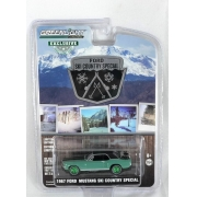 Miniatura Ford Mustang Coupe 1967 Ski Country Special Greenmachine 1/64 Greenlight