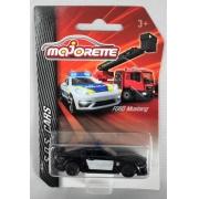 Miniatura Ford Mustang Polícia S.O.S Cars 1/64 Majorette