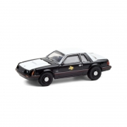 Miniatura Ford Mustang SSP 1982 Polícia Hot Pursuit 1/64 Greenlight